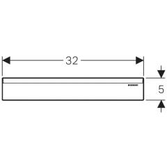 Декоративный элемент для внутристенного трапа Geberit