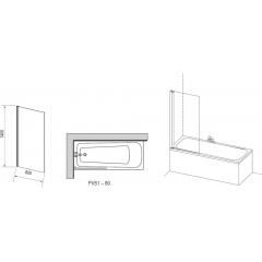 Шторка для ванны Ravak PVS1